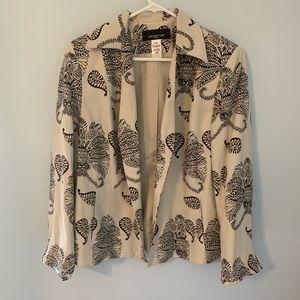 Jones New York size 14w jacket cream color EUC